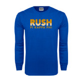 Royal Long Sleeve T Shirt-Rush