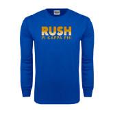 Royal Long Sleeve T Shirt-Rush