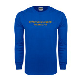 Royal Long Sleeve T Shirt-Exceptional Leaders Stacked