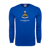 Royal Long Sleeve T Shirt-Sheild Stacked