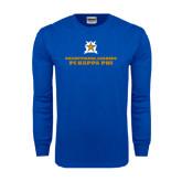 Royal Long Sleeve T Shirt-Half Tone Stacked