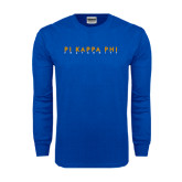 Royal Long Sleeve T Shirt-Fraternity Stacked