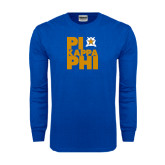Royal Long Sleeve T Shirt-Big Pi Stacked