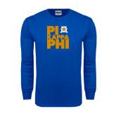 Royal Long Sleeve T Shirt-Big Pi Stacked