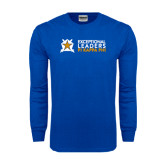Royal Long Sleeve T Shirt-Exceptional Leaders Stacked with Shield
