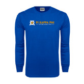 Royal Long Sleeve T Shirt-Established Date with Line