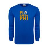 Royal Long Sleeve T Shirt-Big Pi Round Stacked