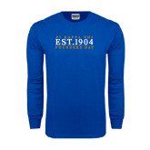 Royal Long Sleeve T Shirt-Established Stacked