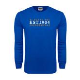 Royal Long Sleeve T Shirt-Established Stacked