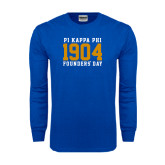 Royal Long Sleeve T Shirt-1904 Stacked Big