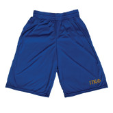 Russell Performance Royal 9 Inch Short w/Pockets-Greek Letters