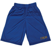 Midcourt Performance Royal 9 Inch Game Short-Greek Letters