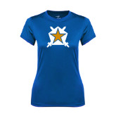 Ladies Syntrel Performance Royal Tee-Star
