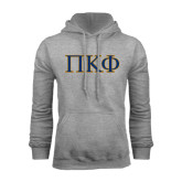Grey Fleece Hoodie-Greek Letters - 2 Color