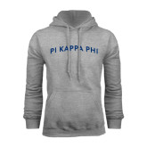 Grey Fleece Hoodie-Arched Pi Kappa Phi