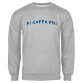 Grey Fleece Crew-Arched Pi Kappa Phi