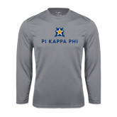 Performance Steel Longsleeve Shirt-Pi Kappa Phi Stacked