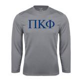 Performance Steel Longsleeve Shirt-Greek Letters