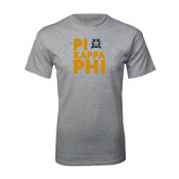 Sport Grey T Shirt-Big Pi Round Stacked