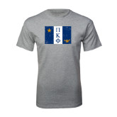 Sport Grey T Shirt-Flag Distressed