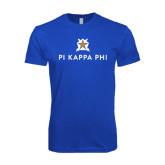 Next Level SoftStyle Royal T Shirt-Pi Kappa Phi Stacked
