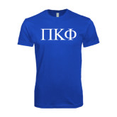 Next Level SoftStyle Royal T Shirt-Greek Letters