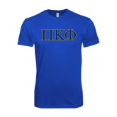 Next Level SoftStyle Royal T Shirt-Greek Letters - 2 Color