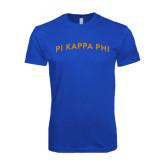 Next Level SoftStyle Royal T Shirt-Arched Pi Kappa Phi