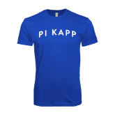 Next Level SoftStyle Royal T Shirt-Arched Pi Kapp