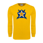 Gold Long Sleeve T Shirt-Star