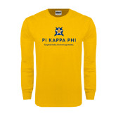 Gold Long Sleeve T Shirt-Pi Kappa Phi - Exceptional Leaders.Uncommon Opportunities.