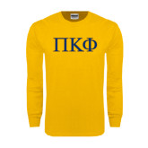 Gold Long Sleeve T Shirt-Greek Letters - 2 Color