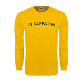 Gold Long Sleeve T Shirt-Arched Pi Kappa Phi
