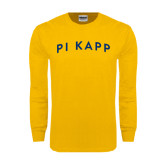 Gold Long Sleeve T Shirt-Arched Pi Kapp