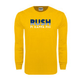Gold Long Sleeve T Shirt-Rush