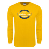 Gold Long Sleeve T Shirt-Bid Day