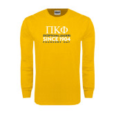 Gold Long Sleeve T Shirt-Founders stacked