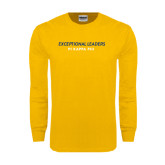 Gold Long Sleeve T Shirt-Exceptional Leaders Stacked