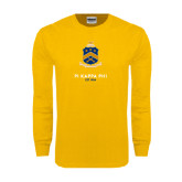 Gold Long Sleeve T Shirt-Sheild Stacked
