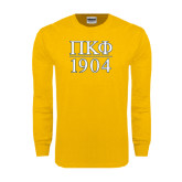 Gold Long Sleeve T Shirt-1904 Stacked