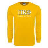 Gold Long Sleeve T Shirt-Class of 2016