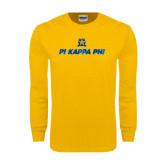 Gold Long Sleeve T Shirt-Geometric