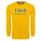 Gold Long Sleeve T Shirt-Alumni of 2016