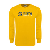 Gold Long Sleeve T Shirt-Exceptional Leaders Stacked with Shield