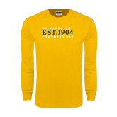 Gold Long Sleeve T Shirt-Established Stacked