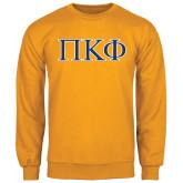 Gold Fleece Crew-Greek Letters - 2 Color