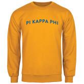 Gold Fleece Crew-Arched Pi Kappa Phi