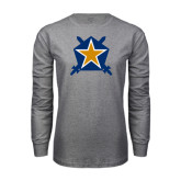 Grey Long Sleeve T Shirt-Star
