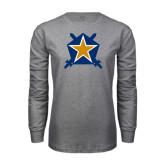 Grey Long Sleeve T Shirt-Star