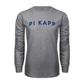 Grey Long Sleeve T Shirt-Arched Pi Kapp